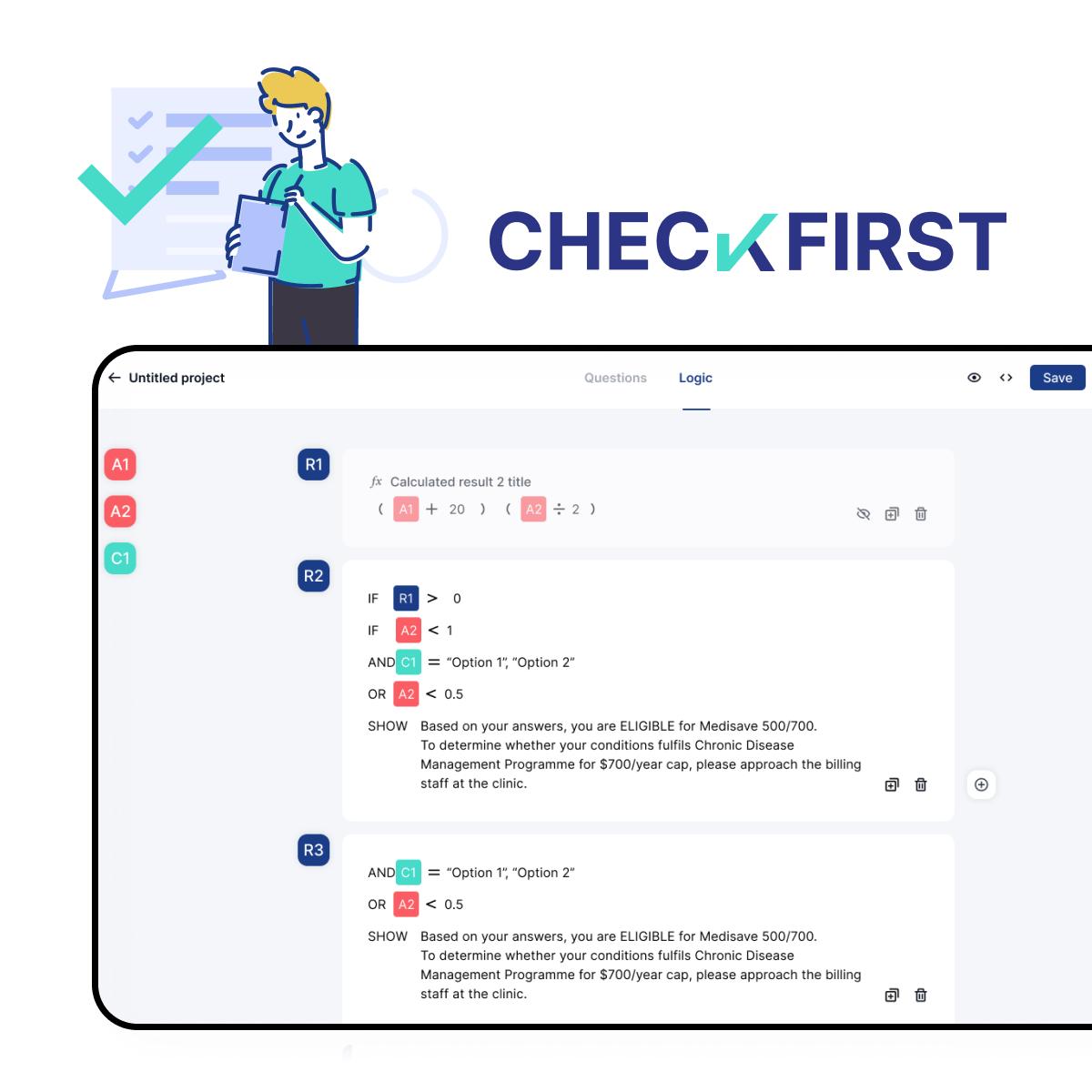 Checkfirst product demo image