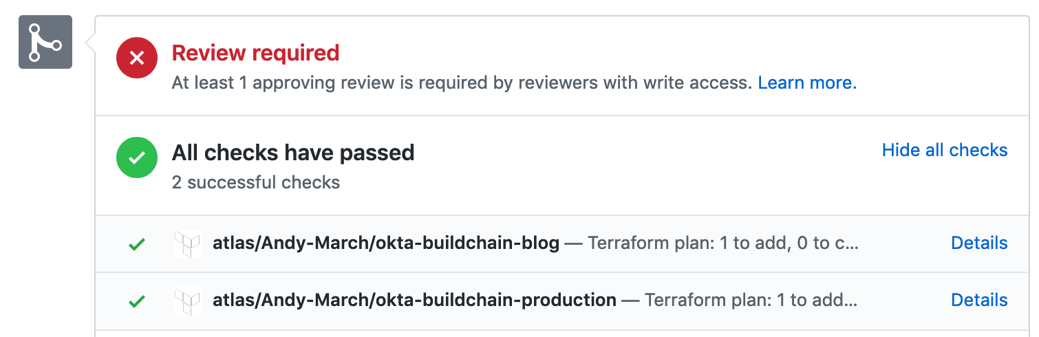 GitHub review required