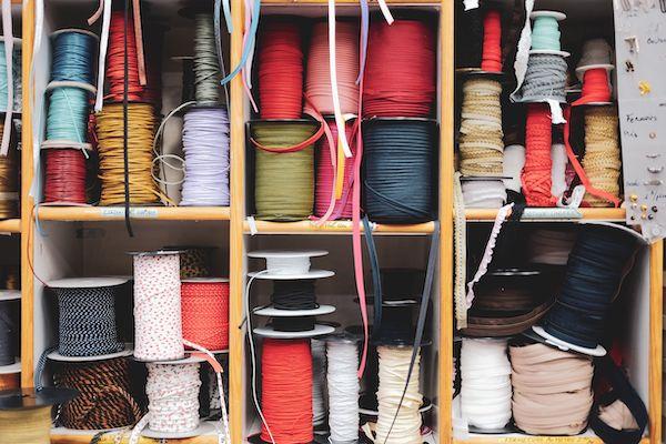 Rouleaux de biais en tissu