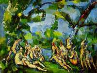 Paul Cezanne's The Bathers, this version being produced in 1900