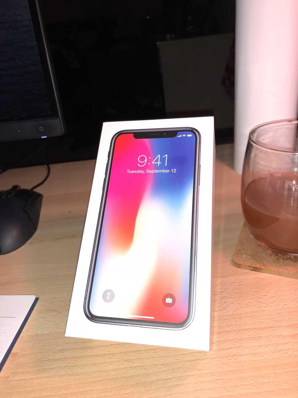iphonex in box