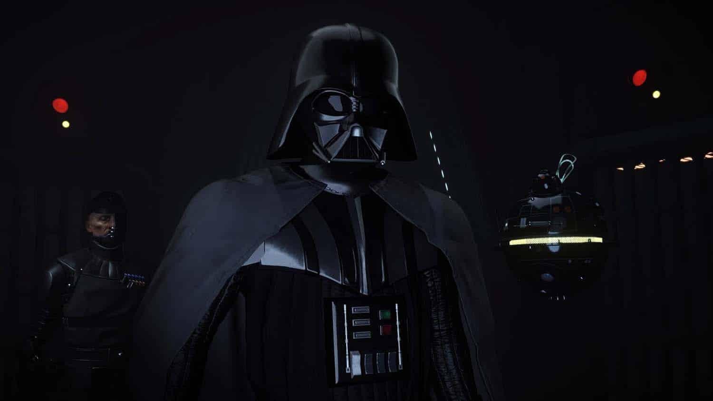 Dark Vader e outros personagens em Imagem do jogo de Oculus Quest Vader Immortal Credit: ILMxLab