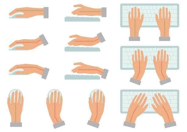 Typing practice hand position