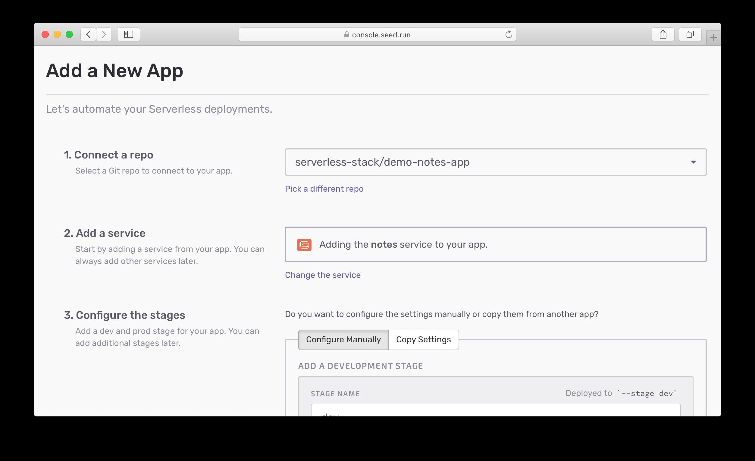 Adding CDK SST app