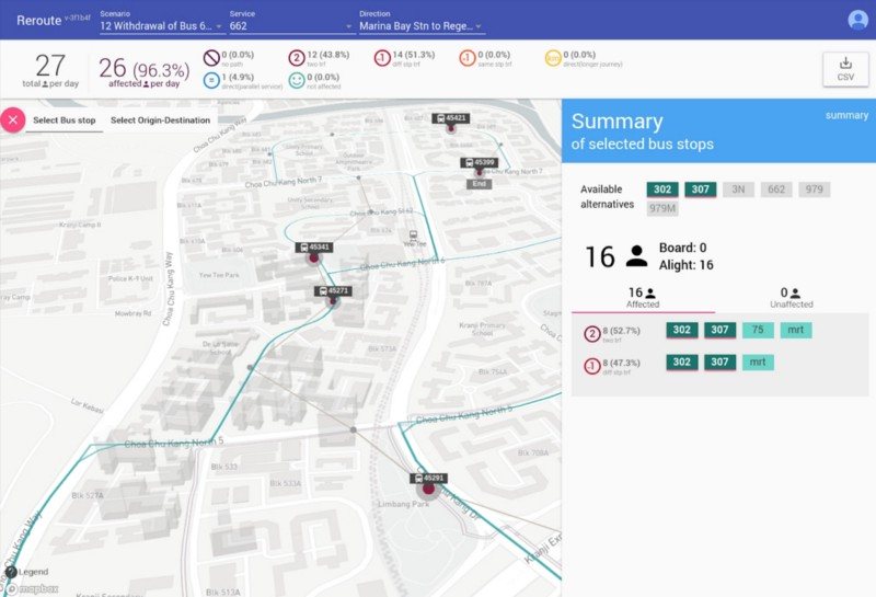 a screenshot of a bus route