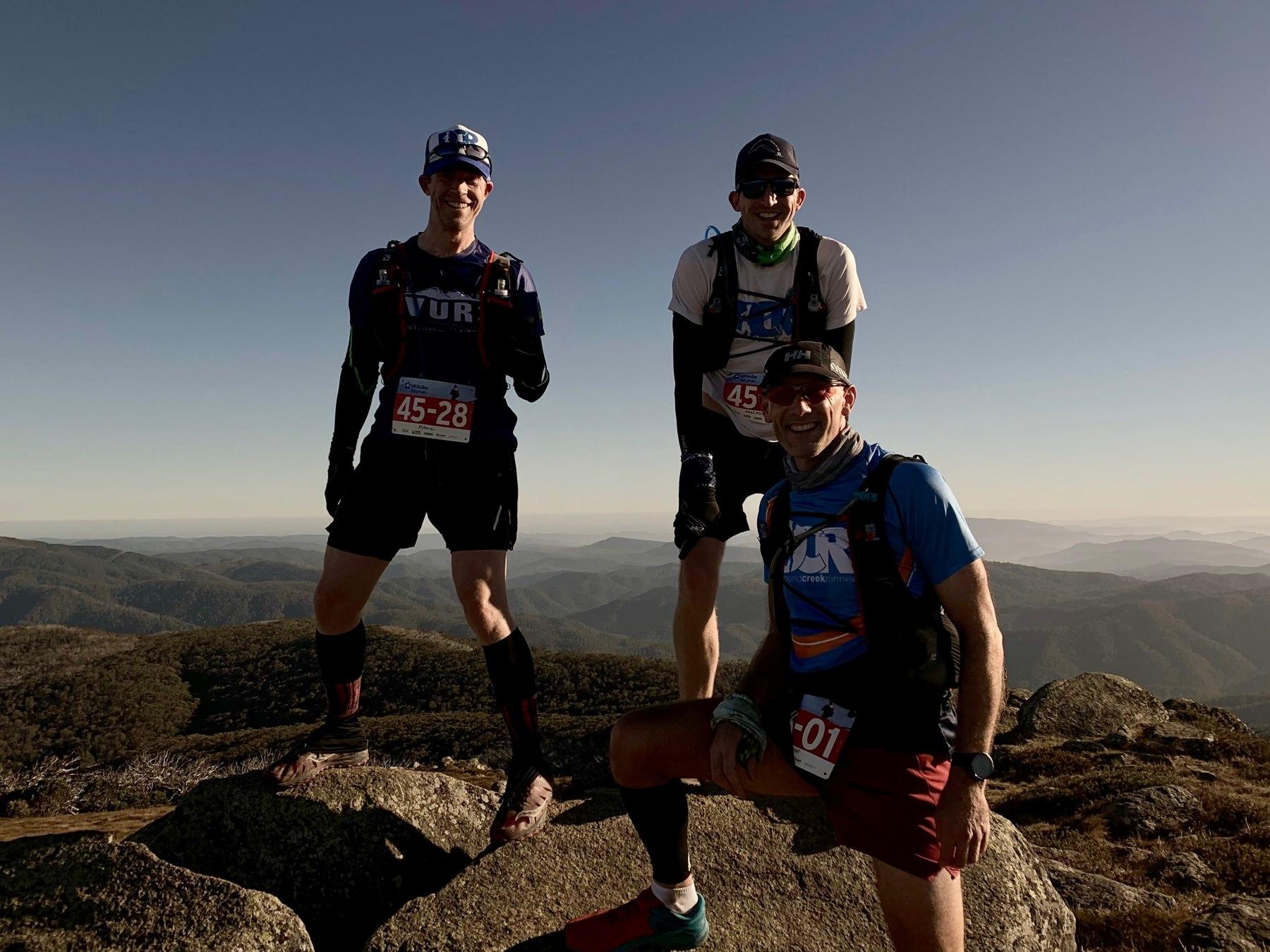 Mt Stirling Summit: Paul, me, Rob