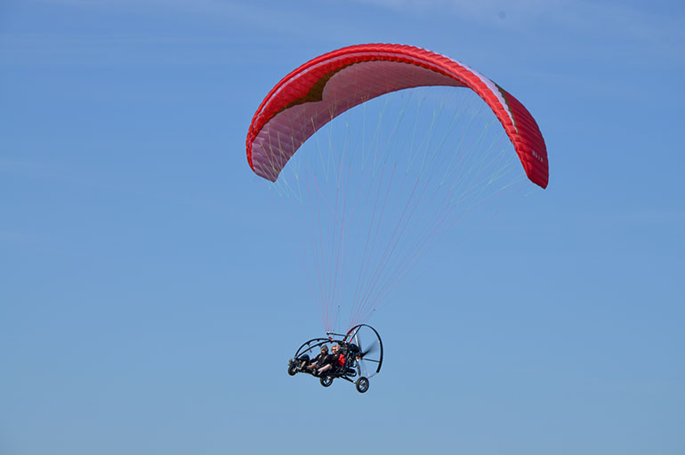 Condor tandem paramotor wing now certified to 472.5kg
