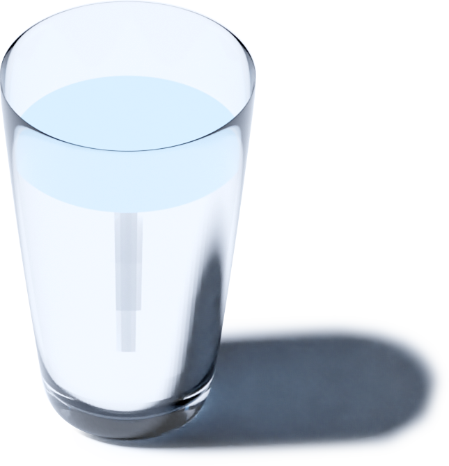 Glass of clean, fresh water