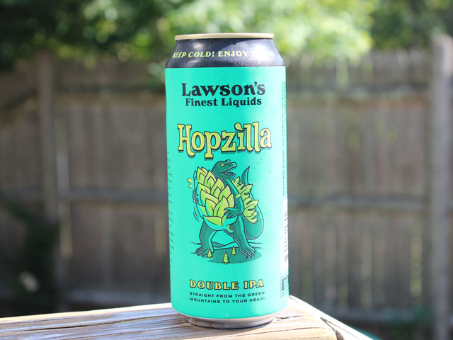 Hopzilla, a Double IPA brewed by Lawson's Finest Liquids