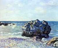 'Seaside, Langland', painted by Alfred Sisley in 1887