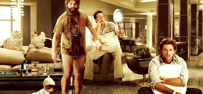 The main characters from 'The Hangover'