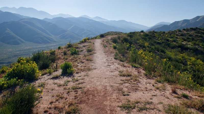 Trail over ridge