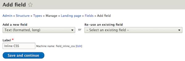 Add field inline