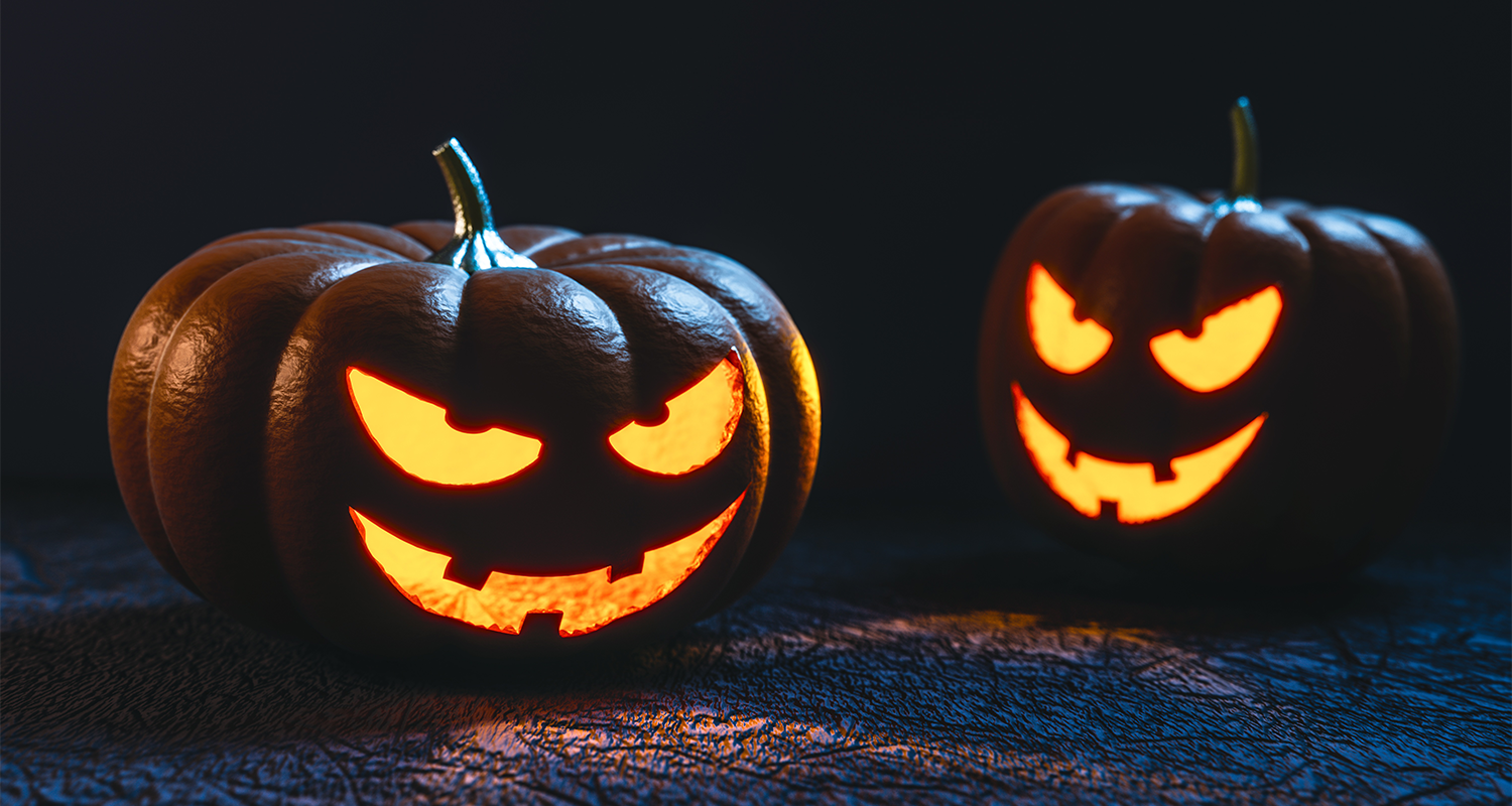 This halloween pumpkin carving face is scary as hell
