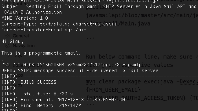 Sending Email Example with Java Mail API and AWS SES SMTP Server