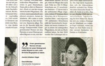 Zeitungsartikel von 2011