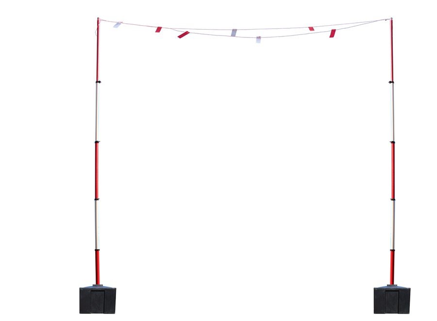 Guardian Goal Post Bunting & Water Filled Base