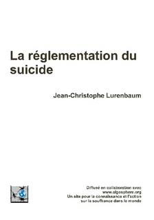 La réglementation du suicide