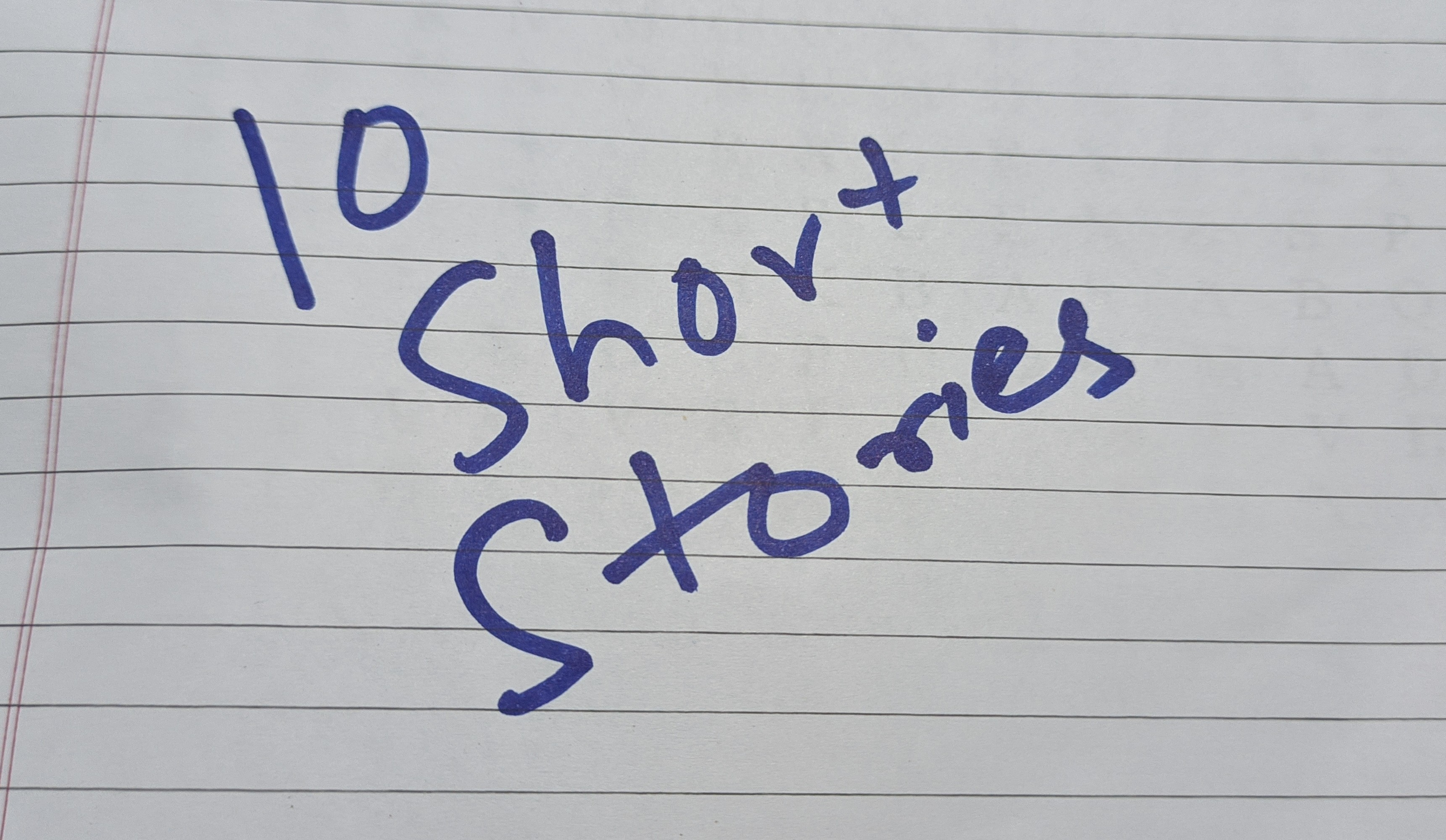 Short Stories are coming!!