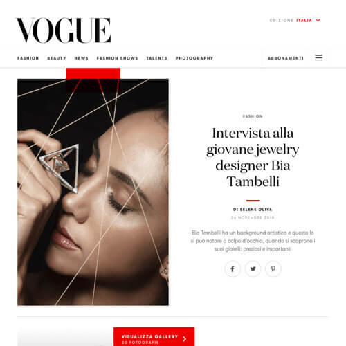 Bia Tambelli Vogue's Interview