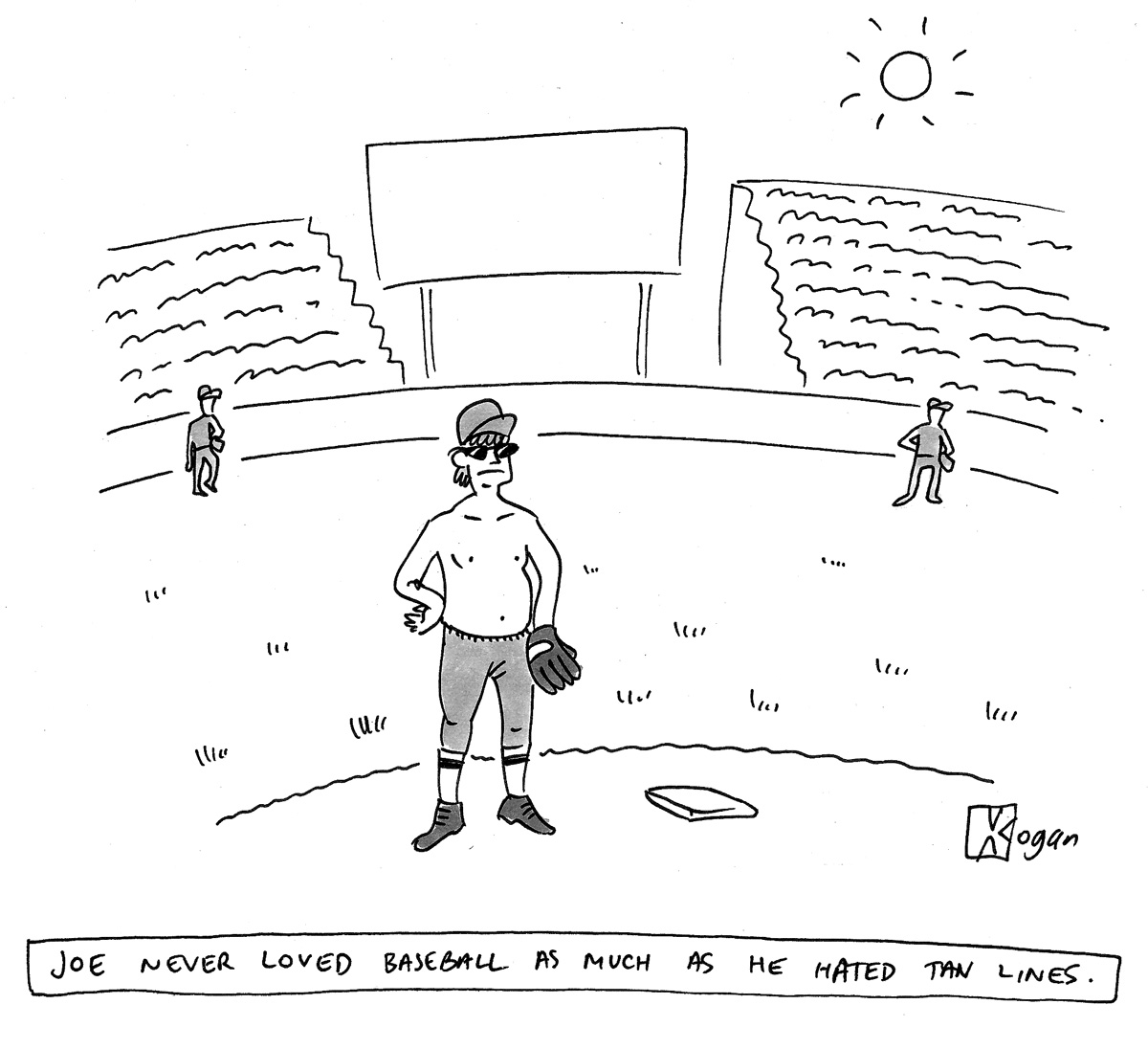 Joe never loved baseball as much as he hated tan lines.