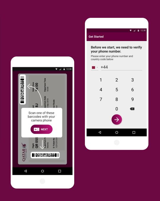 qatar App Screens