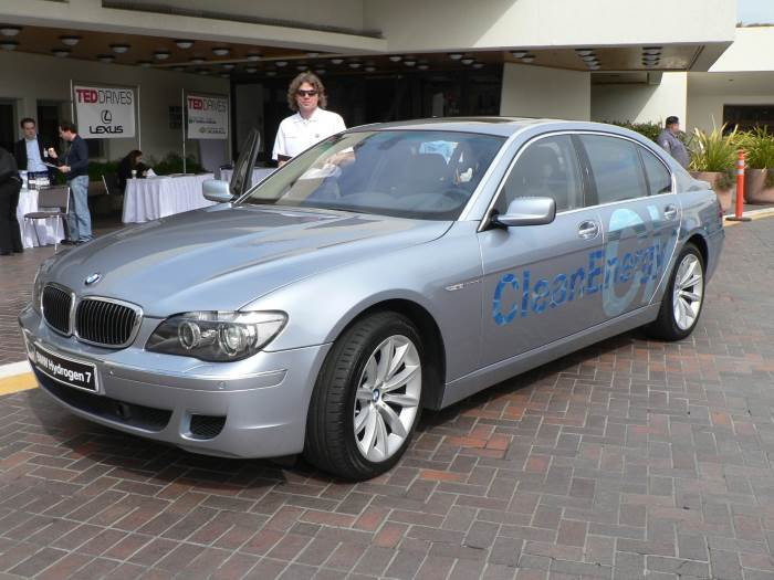 A BMW Hydrogen 7 outside an car event, from Wikipedia.org
