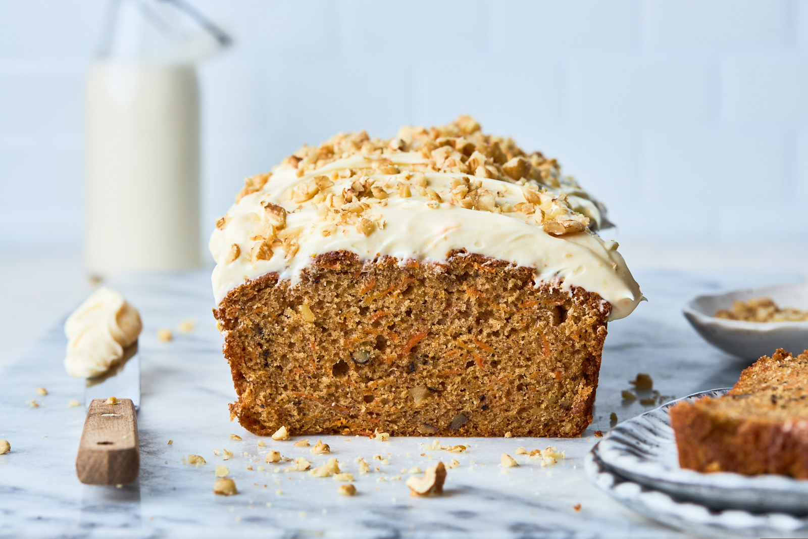 Carrot Cake Loaf (Quick Bread)