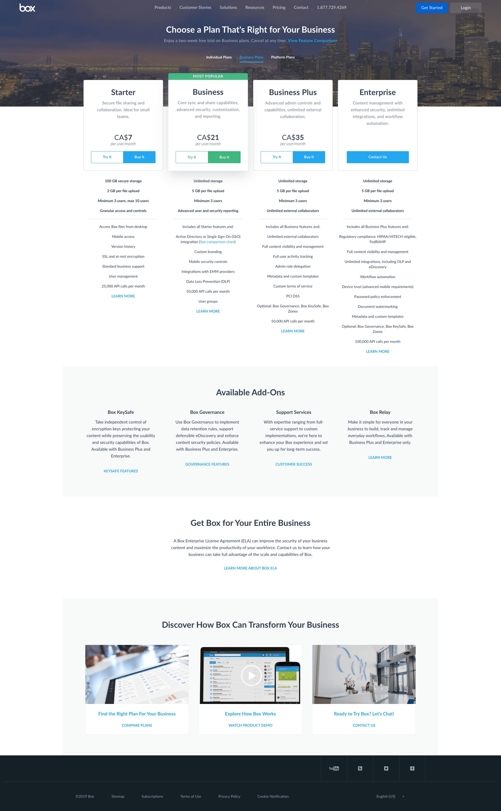 Box - BestPricingPages