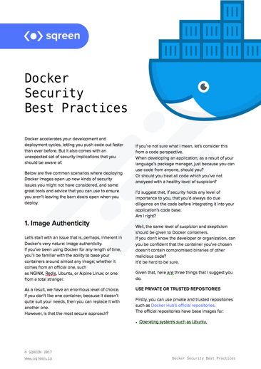 Docker Security Best Practices Cheat Sheet