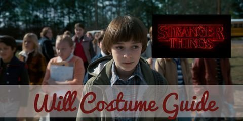 Dress like Will Byers from Stranger Things with Bubble jacket vest, button-down full sleeved shirt, white thermal shirt, faded jeans, sneakers & wig