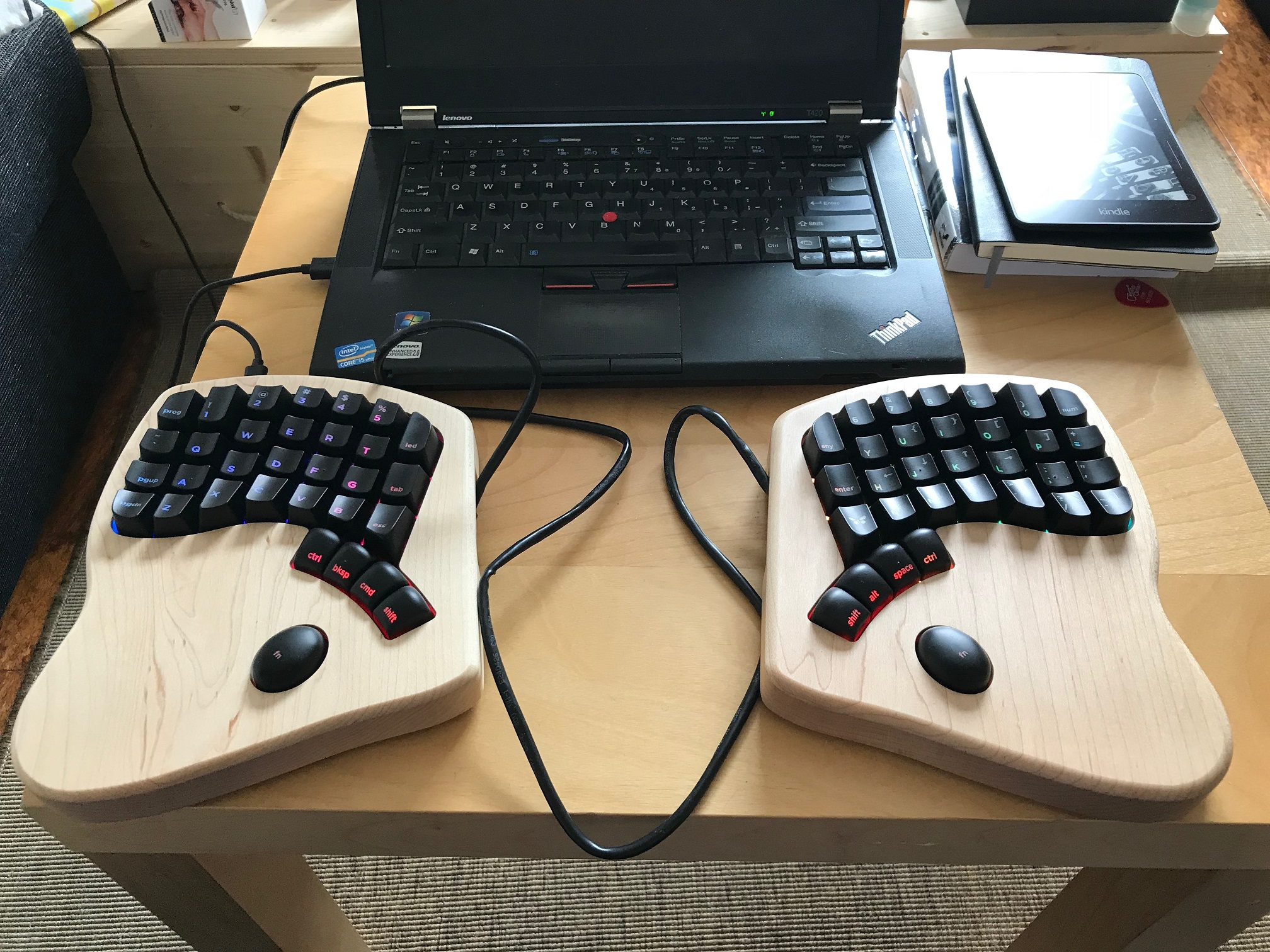 Photo of the Keyboardio Model 01
