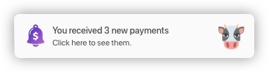 Payment notifications