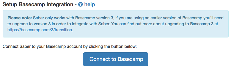 Basecamp Integration Stage 1