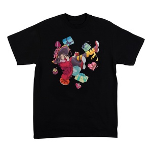 KonoSuba: God's Blessing on This Wonderful World Black Colorful T-Shirt
