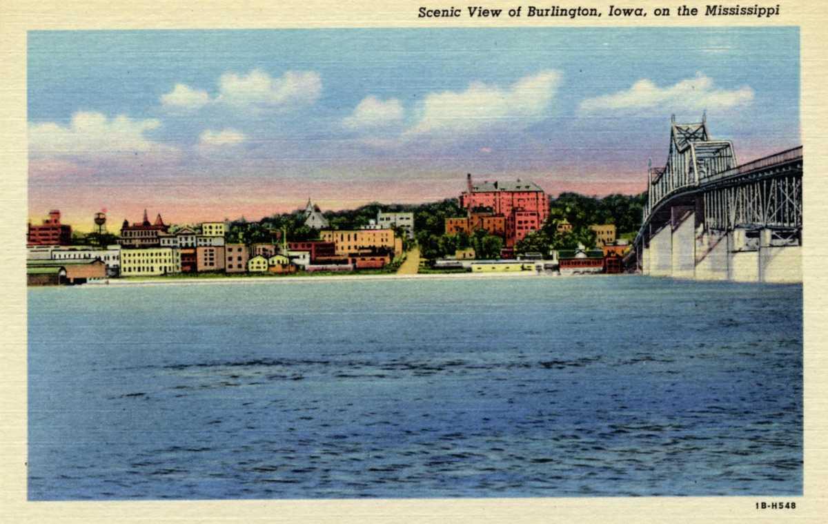 Burlington, Iowa Postcard