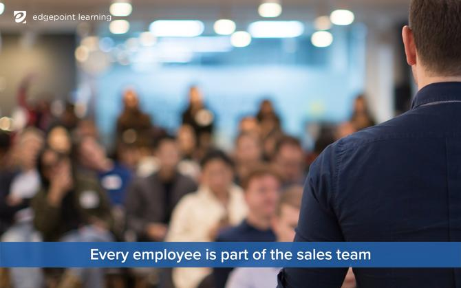 Every employee is part of the sales team