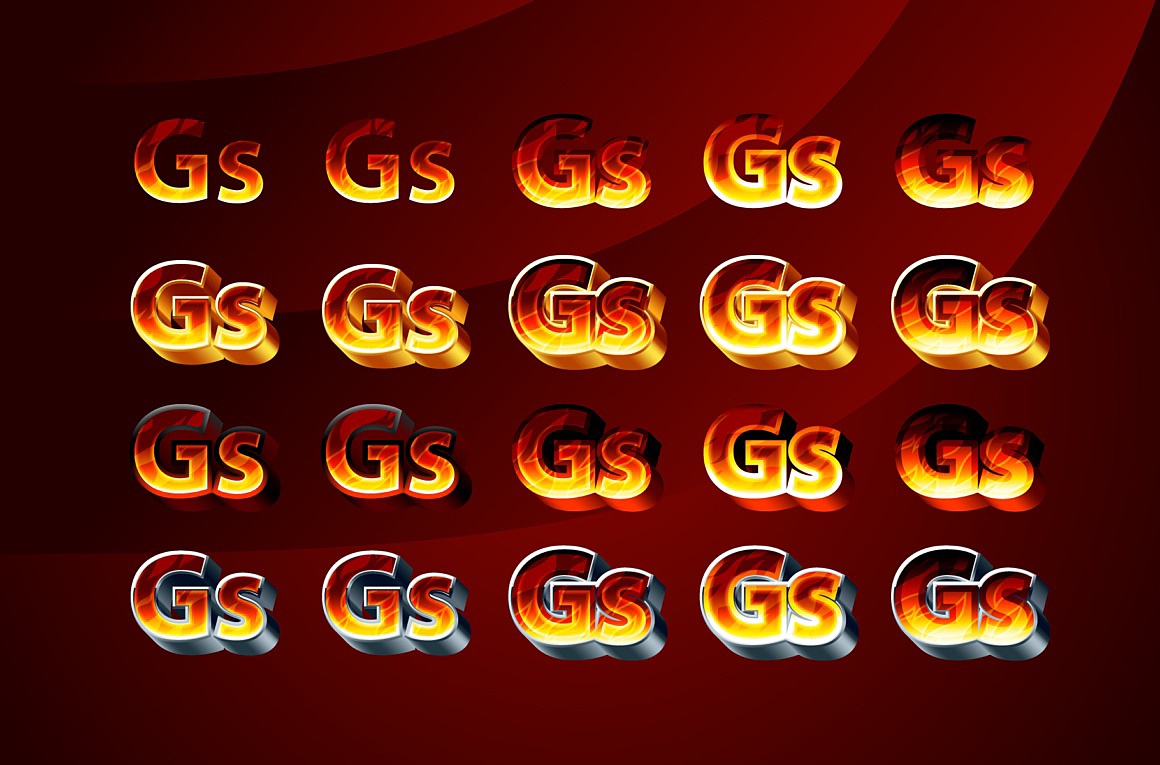 Firecraft Adobe Illustrator Styles images/firecraft_2_styles.jpg