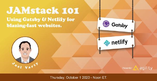 Banner for Jamstack 101: Using Gatsby with Netlify