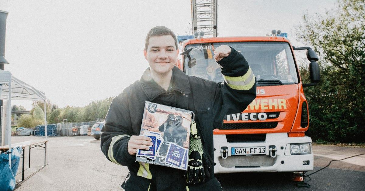 Feuerwehr Bad Gandersheim im Stickerstars-Sammelfieber