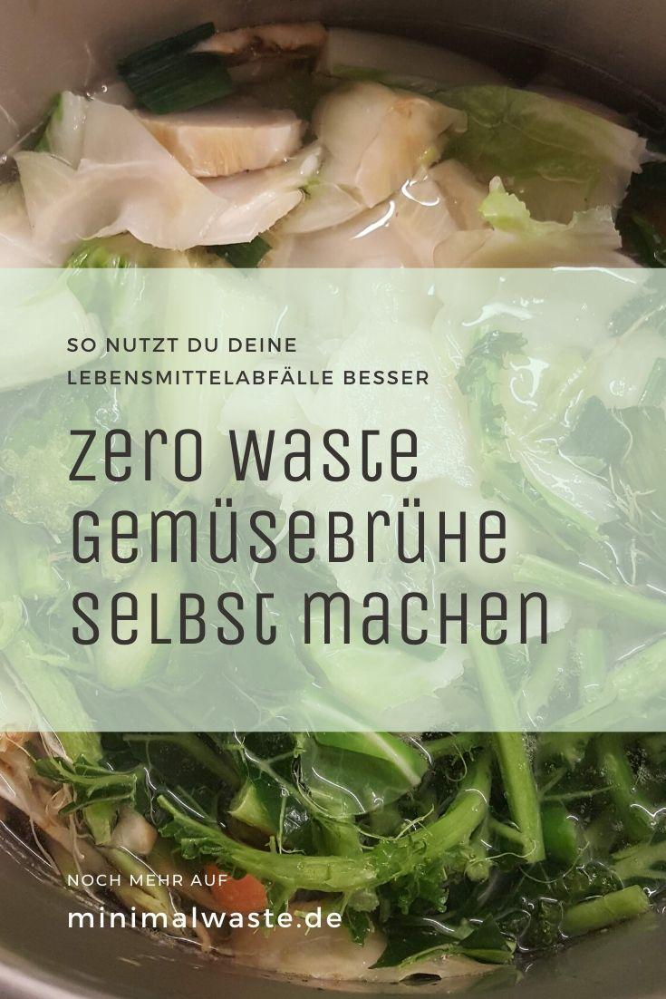 Pinterest Cover zu 'Zero Waste Gemüsebrühe selber machen'
