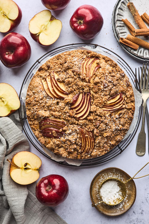 Greek Style Apple Cinnamon Cake