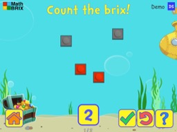 Count to 5 with objects (random arrangement) Math Game
