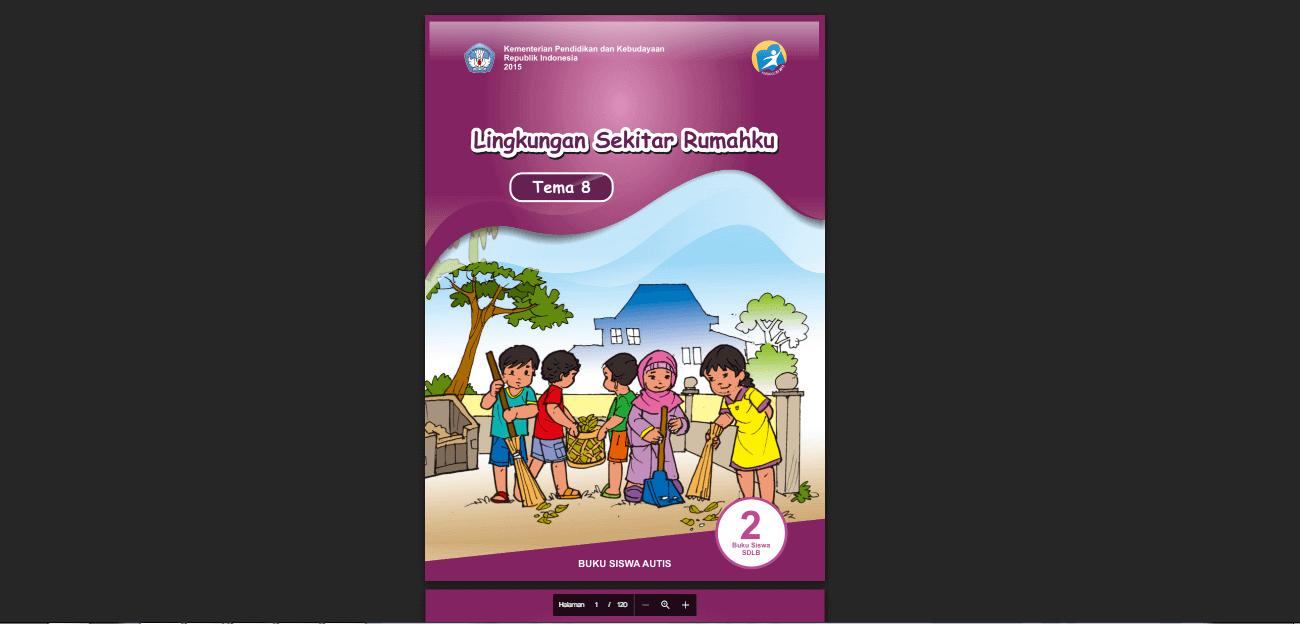 Buku Siswa Autis Kelas 2 Tema 8 Lingkungan Sekitar Rumahku