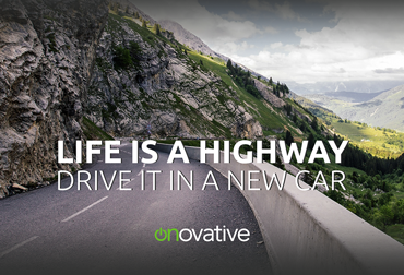 Life is a Highway Auto Loan Postcard Template