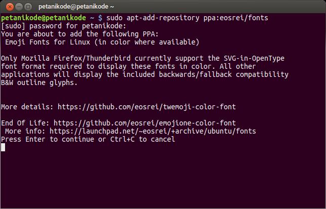 Cara Menambahkan Font Emoji di Linux Agar Dapat Menampilkan Emoji