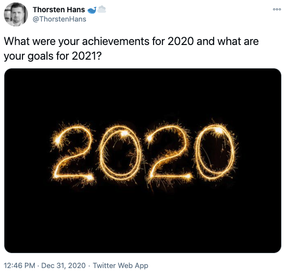 2020 Achievements and goals for 2021