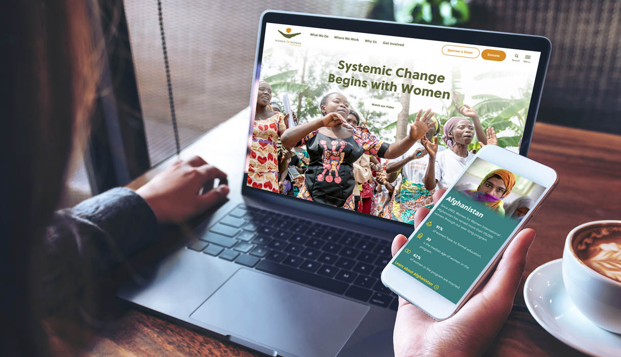 A laptop and smartphone view of the WFWI homepage