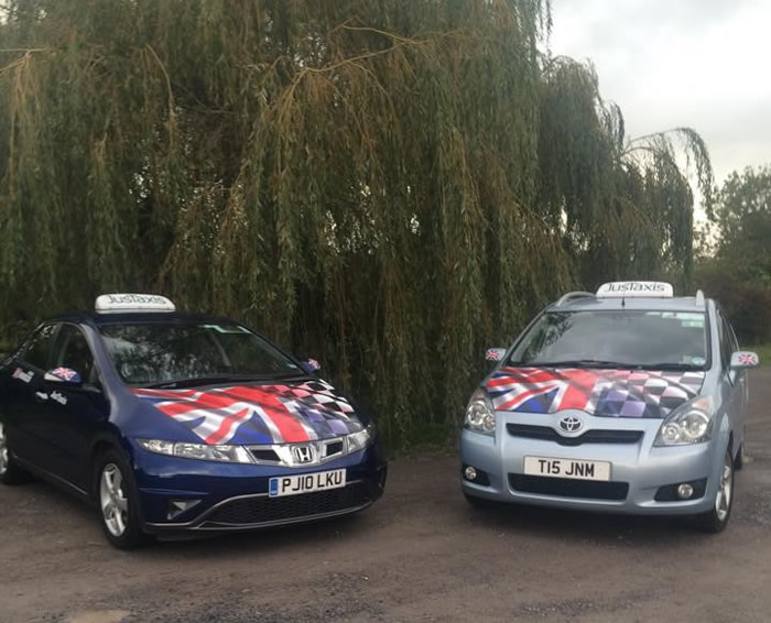 JusTaxis Taxi Service covering Glastonbury, Street, Wells and the whole of Somerset