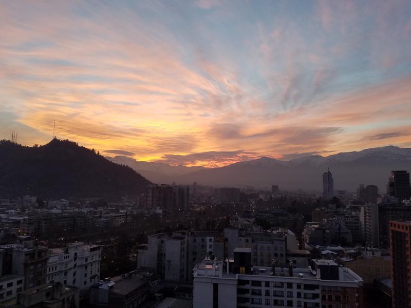 Our last sunrise over Santiago